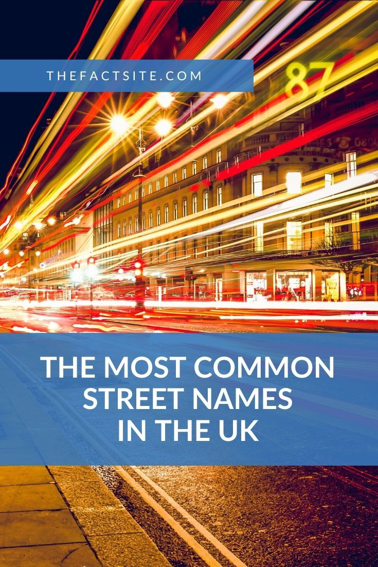 The Most Common Street Names In The UK