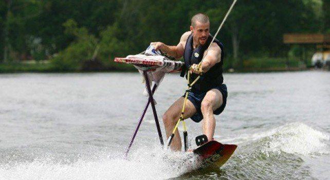 Extreme Ironing Surfing