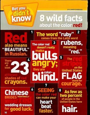 Facts About the color red