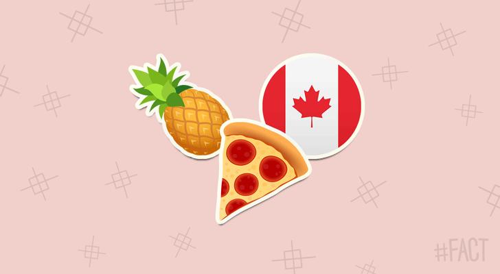 Hawaiian Pizza is from Canada #FACT