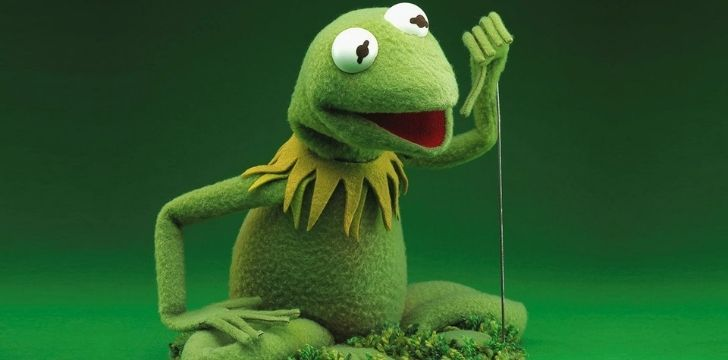 Kermit with his thumb down