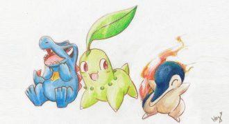 Johto Region Starter Pokemon
