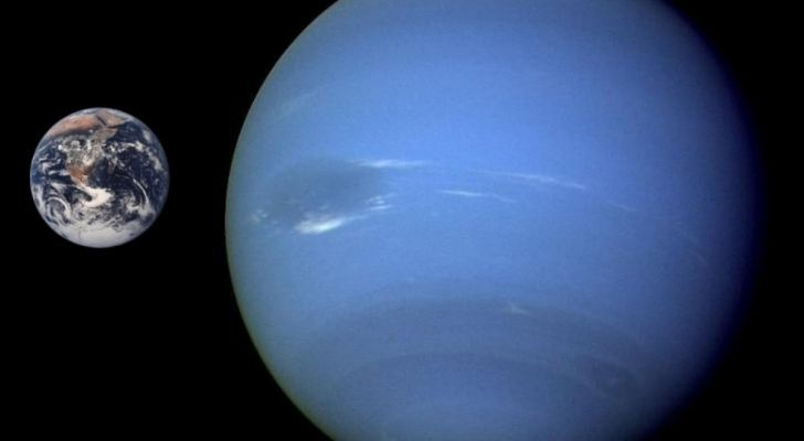 Neptune much bigger than Earth