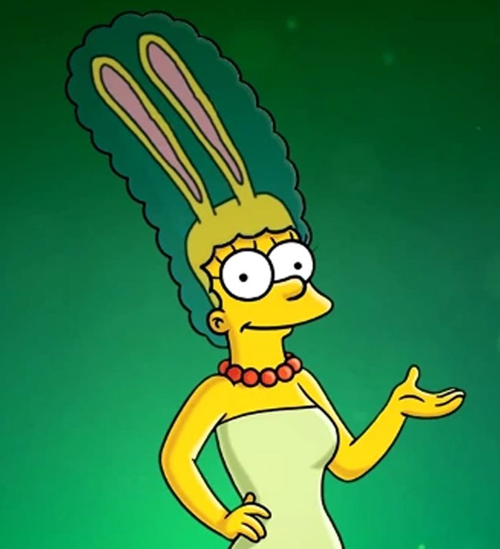 Marge Simpson with rabbit ears