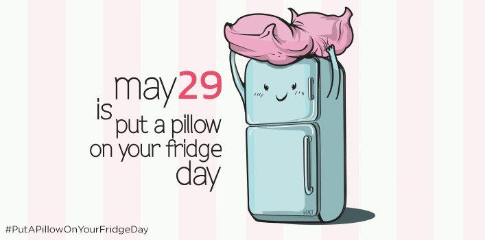 Put A Pillow On Your Fridge Day | May 29 | The Fact Site