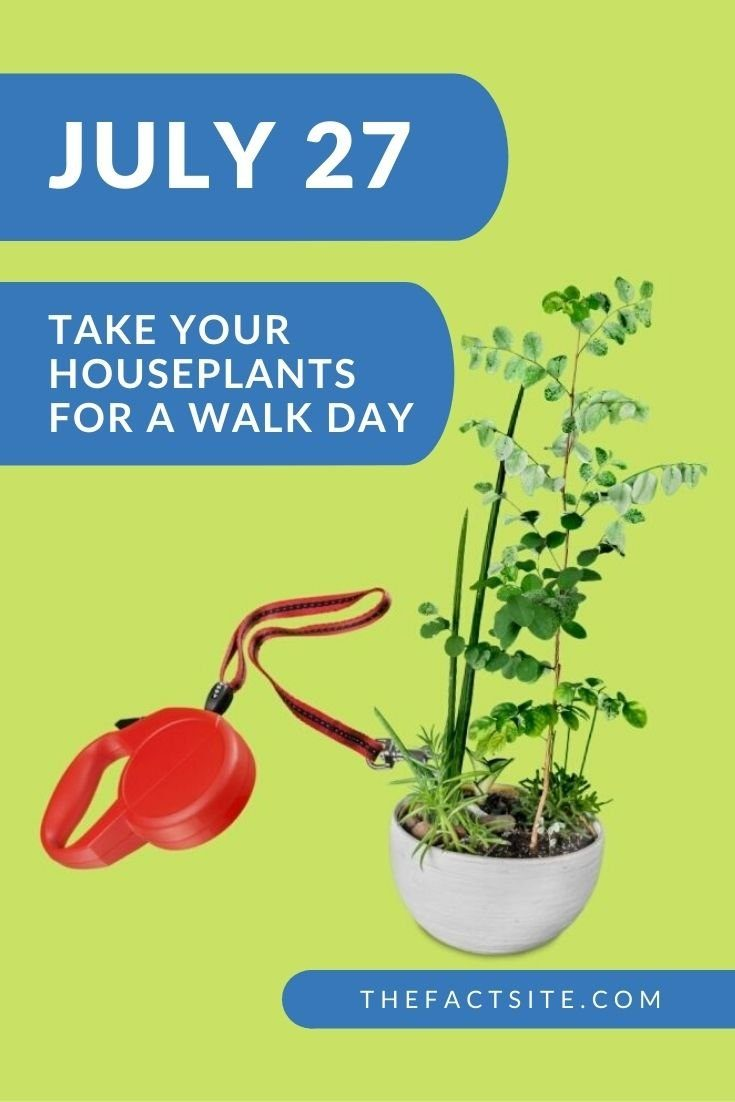 Take Your Houseplants for a Walk Day   July 27