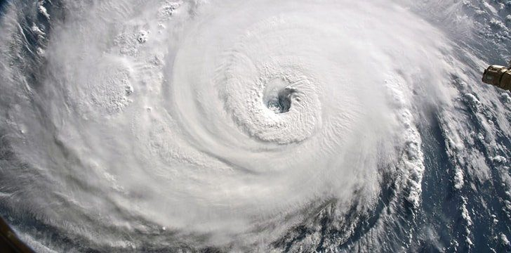 Earth's hurricanes usually have a small eye surrounded by a larger outer band.