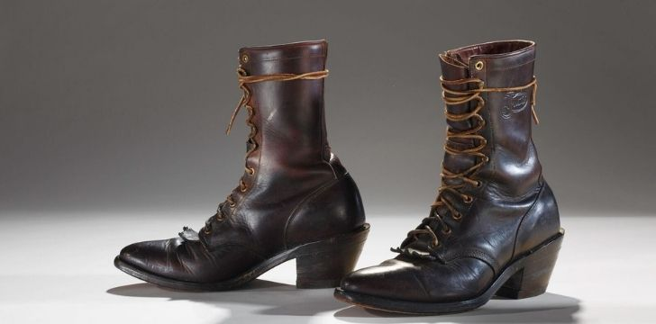Ancient leather boots