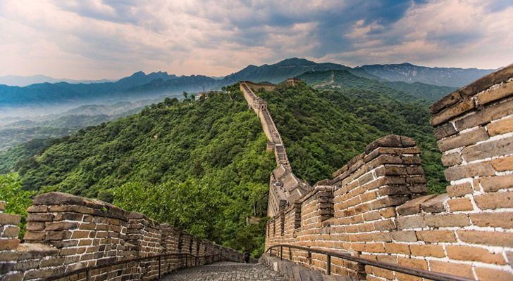 Construction on The Great Wall of China