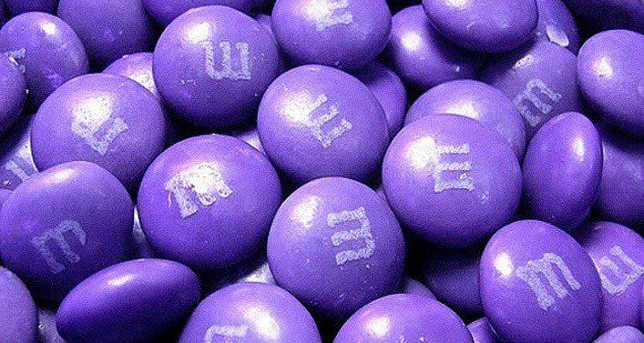 Purple M&M's