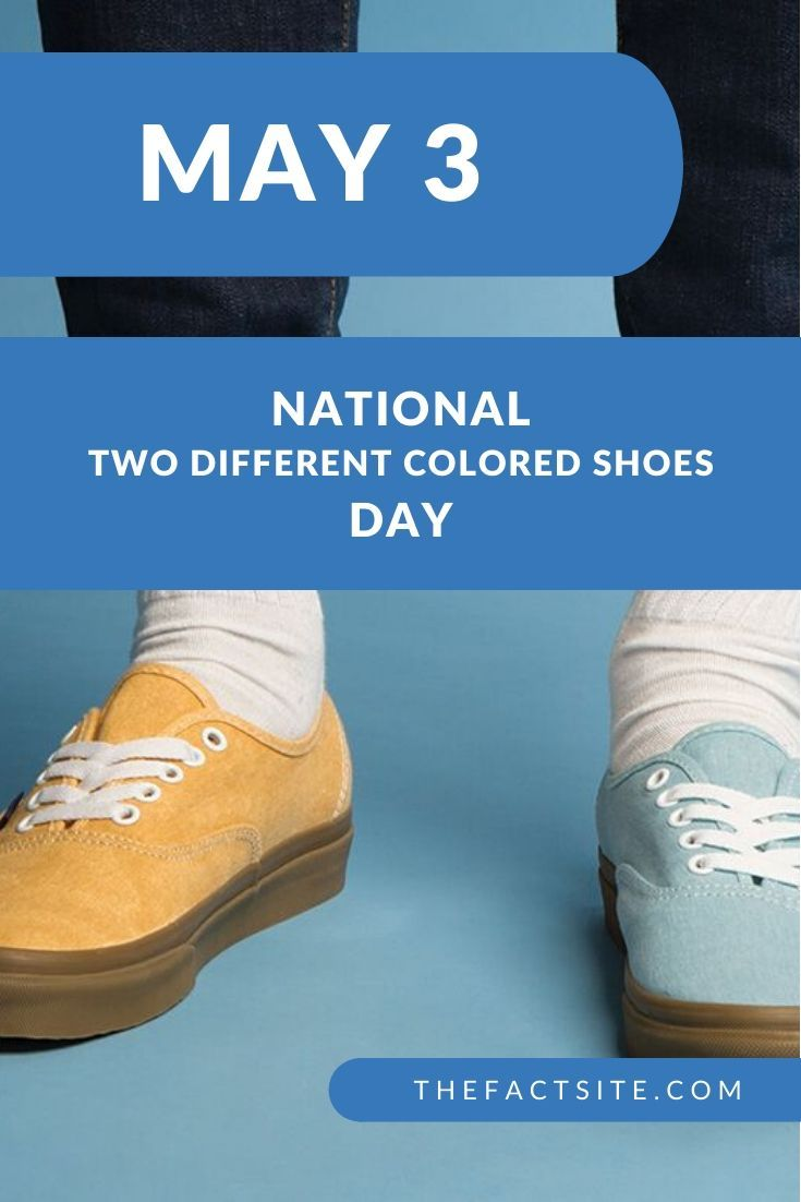 National Two Different Colored Shoes Day   May 3