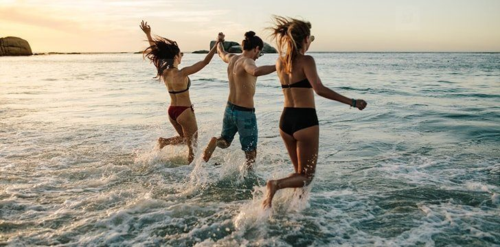 Increase your body's levels of iodine by swimming in sea or ocean water.