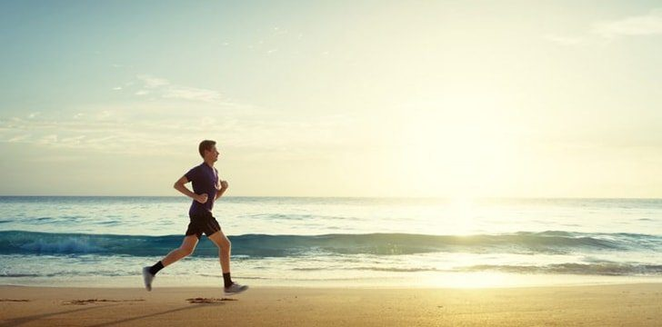 Enjoy endless opportunities to exercise when you're out at the beach.