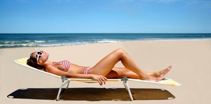 Going to the beach is like getting a beauty treatment for your skin.