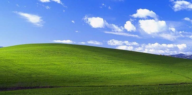 The rolling hills background for XP sold for millions of dollars!