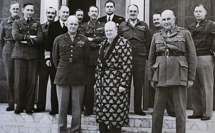 Winston Churchill wearing a onesie