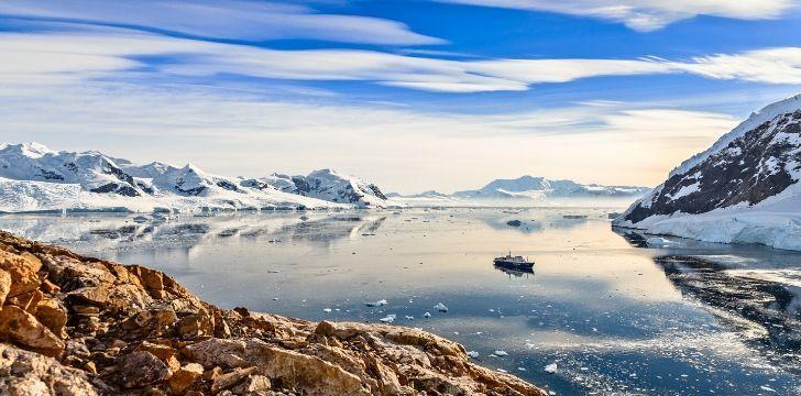 A serve image of Antarctica.
