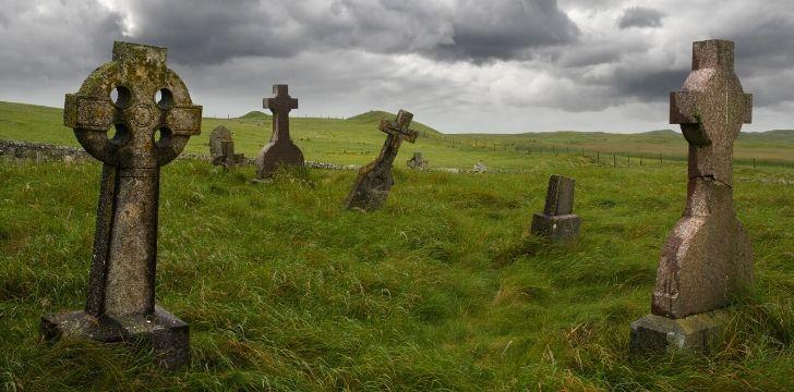 Ancient tomb Celtic tomb stones.