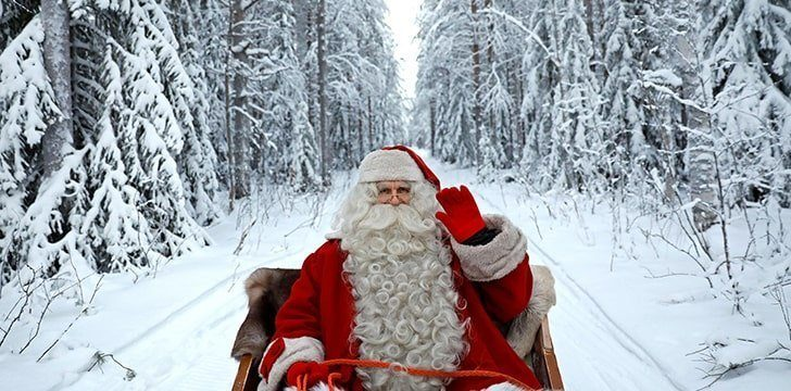 Did Santa ever wear a different color?
