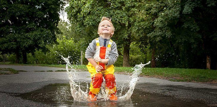 11th January- Step In A Puddle And Splash Your Friends Day.