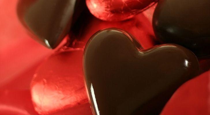 A chocolate love heart
