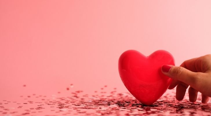 A red love heart