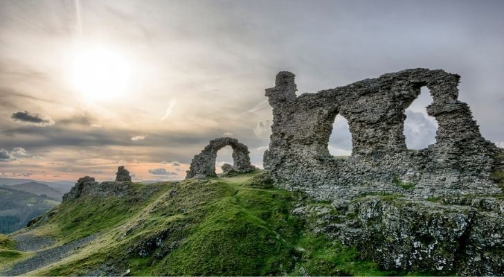 Ruins in the beautiful countryside of Wales