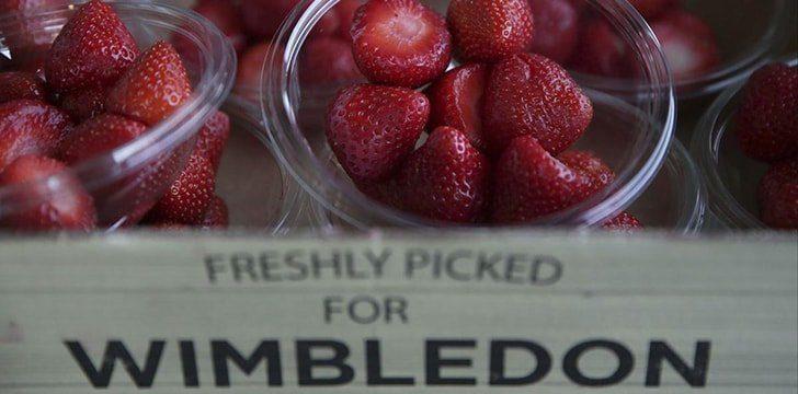 Tennis players enjoy strawberries too.