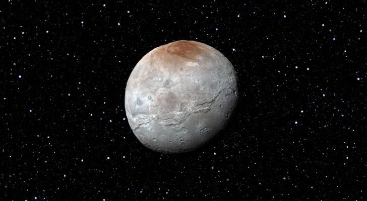 The dark region on the north pole of Pluto's moon, Charon, is called Mordor.