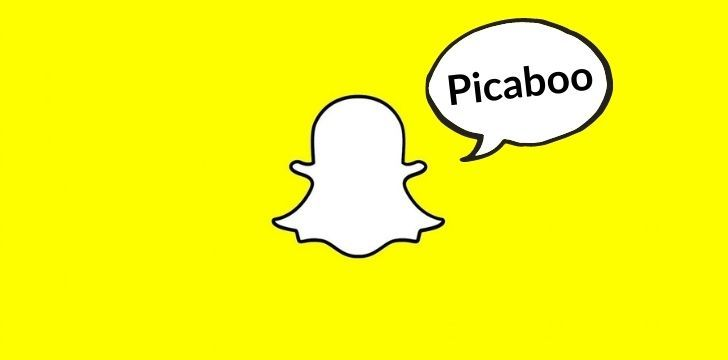 Snapchat ghost saying Picaboo