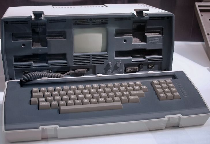 The first laptop computer.