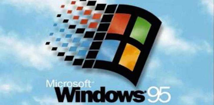 The Windows 95 logo.