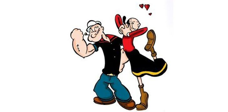 Princess Peach was loosely based on Popeye's girlfriend Olive Oyl.