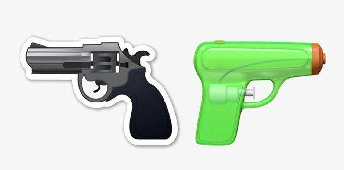 Water Pistol Emoji Replaces Gun