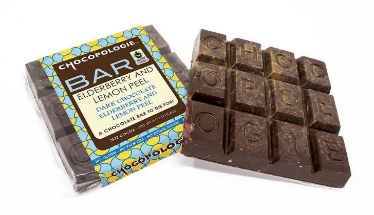A block of Chocopologies chocolate