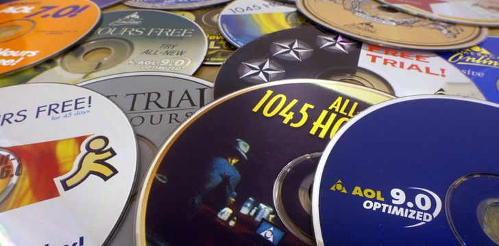 In the 1950s, half of the world's CDs were made for AOL sign-up discs.