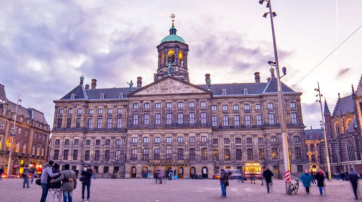 Amsterdam's Royal Palace sits on 13,659 wooden poles.