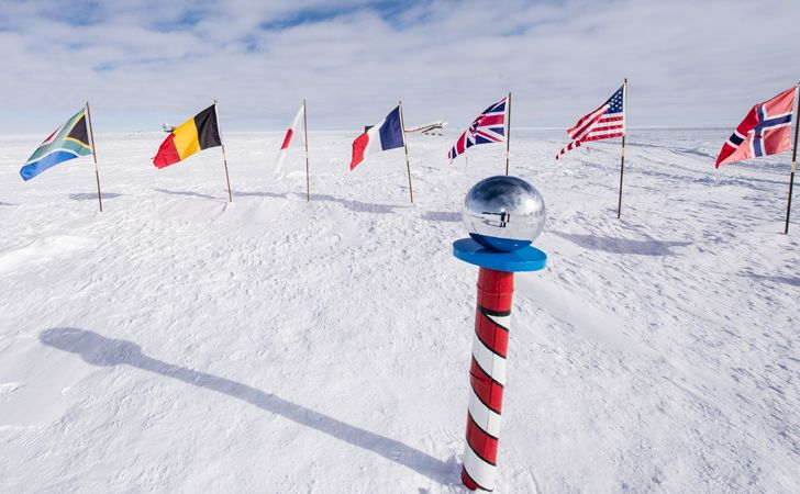 There is no specific time zone at the South Pole.