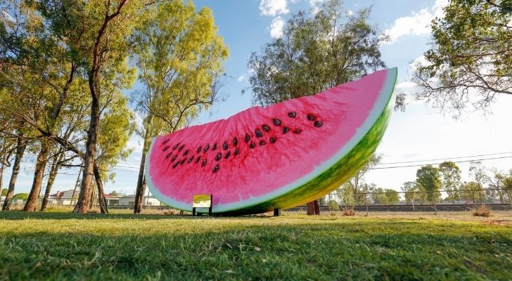 The biggest watermelon slice you could ever imagine