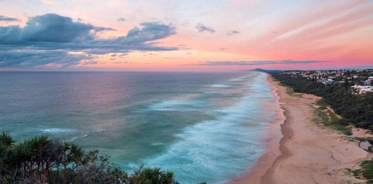 Stunning coastline on the Sunshine Coast