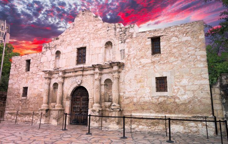 The Alamo Mission building