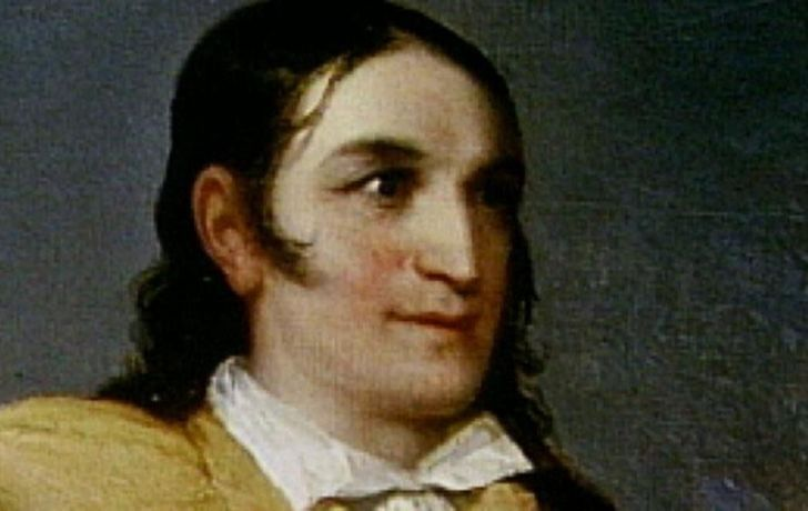 A painting of Davy Crockett