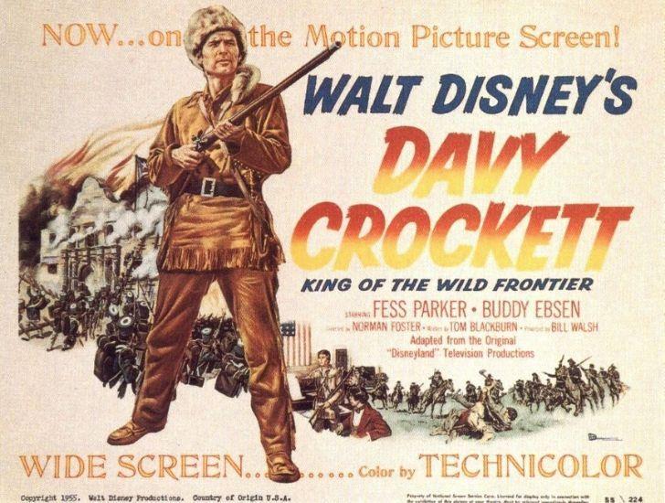 An advertisement for Disney's Davy Crockett movie