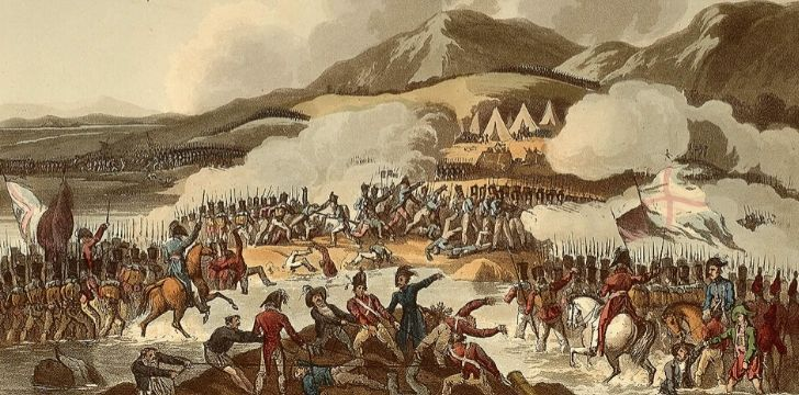 An illustration of the Mexican War of Independence