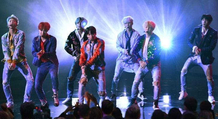 BTS at the American Music Awards in 2017