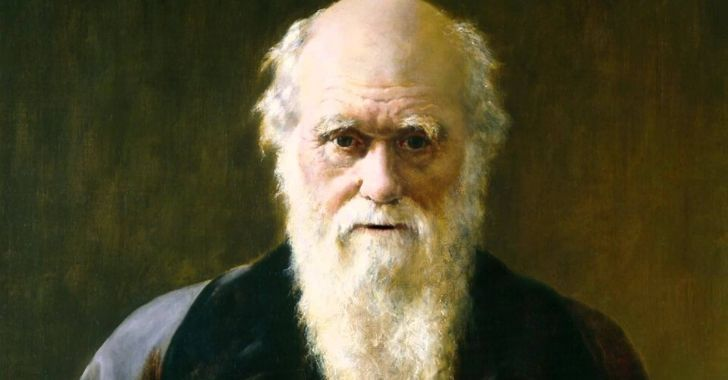 A painting of Charles Darwin.