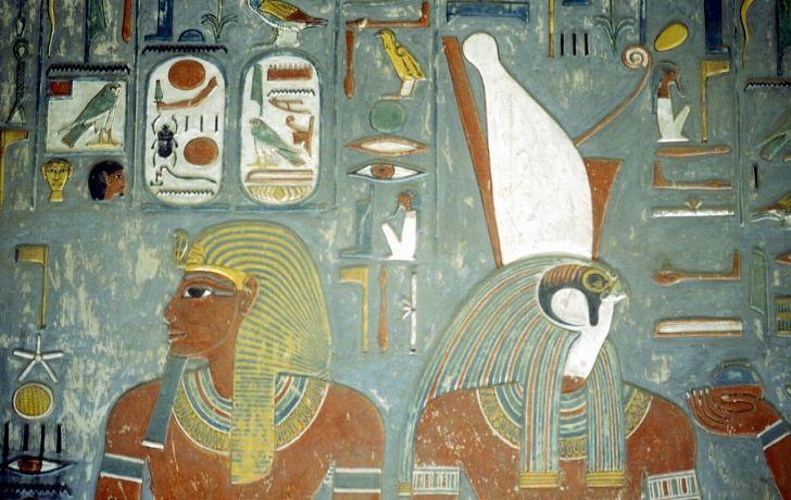 Art work of two pharaohs
