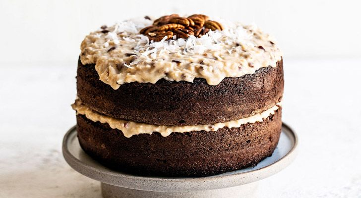German Chocolate Cake is named after an American baker by the name of Samuel German.