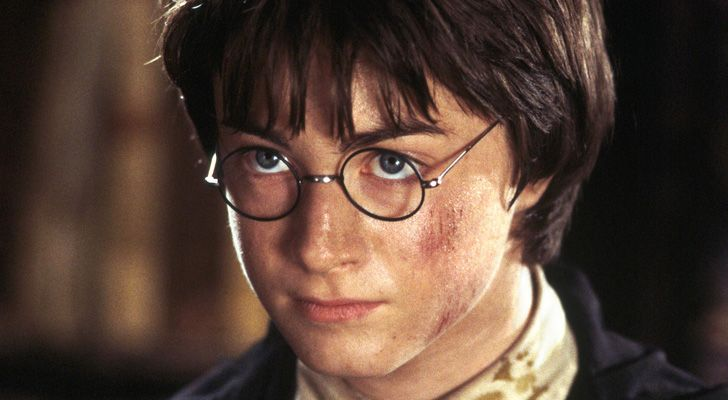 Harry Potter wearing his glasses