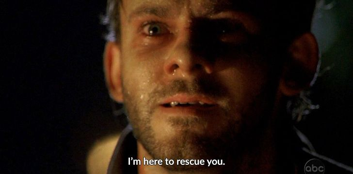 "Lost Quote ""I'm here to rescue you"""